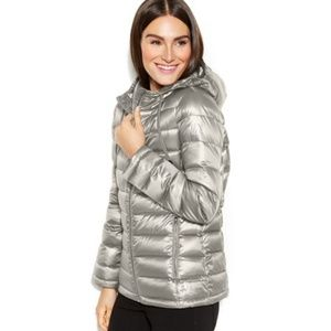 NWT Calvin Klein Hooded Quilted Puffer Coat